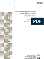 Numerical Modelling and Analysis of a Room Temperature Magnetic Refrigeration System Publication Date September 2007 - Petersen, Thomas, Petersen - 2007