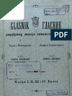 Glasnik Zemaljskog Muzeja 1890./god.2 knj.1