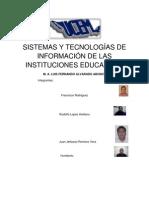 SISTEMAS Y TECNOLOGÍAS DE INFORMACIÓN DE LAS INSTITUCIONES EDUCATIVAS