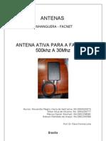 Antena Ativa 500khz - 30Mhz