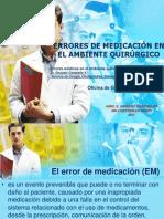 ERRORES DE MEDICACIÓN EN EL AMBIENTE QUIRÚRGICO