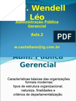 Slides Adm. Pública aula 2 - Prof. Wendell Léo