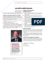 Tellabs Inspire Magazine Leading Edge - Helping You Succeed With Mobile Internet