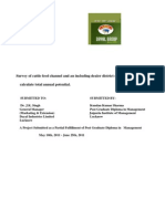 Survey of Cattle Feed Channel and an Including Dealer District Network and Dairies and to Part 1