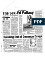 The Sex Education Fallacy