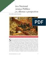 A Política Nacional de Segurança Pública - Luis Eduardo Soares