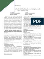 Profile Shift Coefficient