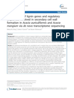 Identification of Lignin Genes and Regulatory