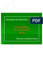 Ley General de Educacion - 28044