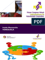 RSE - Iraida Manzanilla - Congreso Virtual de Voluntariado Corporativo