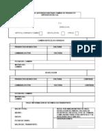 Formato de Autorizacion Para Cambio de Producto