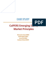 CalPERS Investment Strategy in Emerging Equity Markets - Case Study