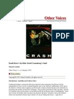 Death Drive's Joy Ride David Cronenberg's Crash