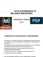 Project on Corporate Governance of ITC