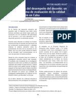 La Evaluacion Del Desempeno Del Docente en Cuba