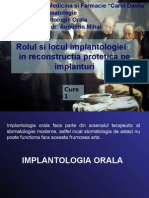 Curs 01 - Rolul Si Locul Implantologiei Orale