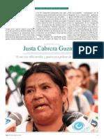 Entrevista Justa Cabrera