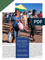 Mujeres en La Marcha Por La Defensa Del TIPNIS (Mirna Inturias)