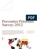 CPA Preventive Priorities Survey 2012