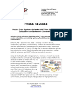 Vector Data Systems Selects AiNET for Data Center Colocation and Internet Connectivity