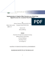 Implementation of Adaptive Filter in Fixed Point