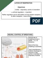 Regulation Respiration