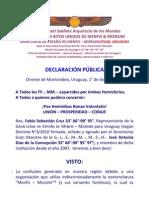 Declaracion Publica Menfis Mizraim Uruguay