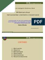 Incorporando los servicios ambientales para el análisis costo beneficio