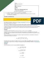 3°MEDIO DIF.MATEMATICA  LUGARES GEOMETRICO A.URREA   MODULO N° 3