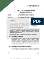 N-CMT-4-02-002-11 MATERIALES PARA  BASES HIDRÁULICAS