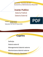 PptDatoria Publica Externa BujorGeorgian a