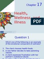 Kozier - Chapter 17- Health Wellness Well Being