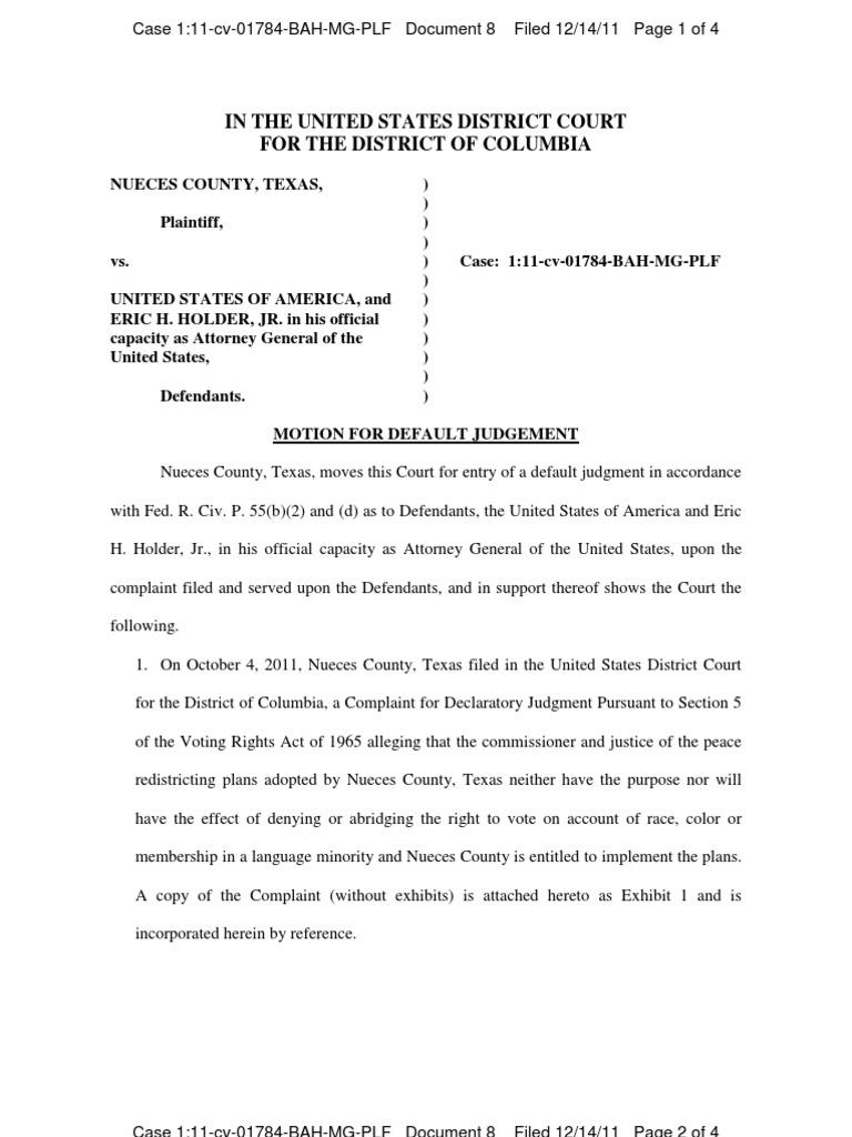 20 - Motion For Default Judgment and Default Judgment  Default