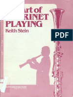 Keith Stein - The Art of Clarinet Playing
