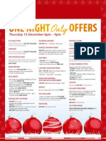 St Ives Shopping Village One Night Only Offers December 15th