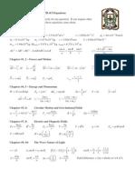 Grade 12 Physics Equations