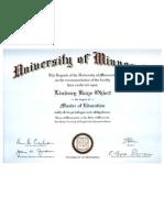 M.Ed. Diploma