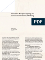Celebration of Regional Typology in a Context of Postmodern Advertising
