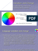 Language Variation and Change Introduction
