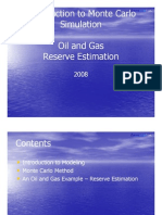 Monte Carlo Oil and Gas Reserve Estimation 080601