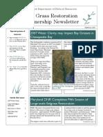 Winter 2007 - 2008 Maryland Bay Grasses Newsletter