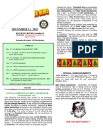 Moraga Rotary Newsletter Dec 13 2011