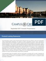 Campus Crest Group Investor Presentation- BAML