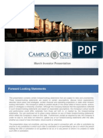 Campus Crest Group March Investor Presentation