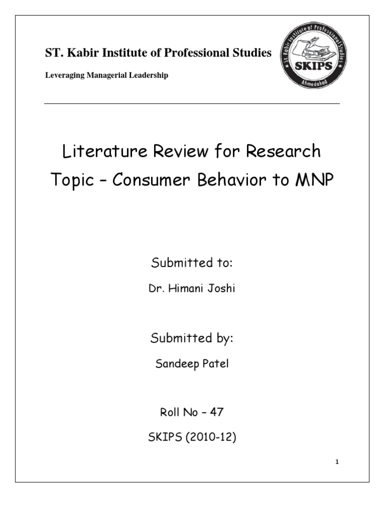 Literature review on customer satisfaction hospitality industry