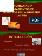 GENERACIÓN Y TRATAMIENTOS DE DESECHOS EN LA INDUSTRIA
