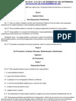 PUBLICAÇÃO CONSOLIDADA DA LEI Nº 8112