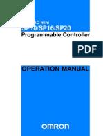 w197e12b Sp10 Sp16 Sp20 Operation Manual