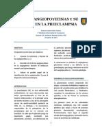 Las Angiopoyetinas y Su Rol en La Preeclampsia