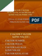 faktor2 penunjang keberhasilan komunikasi